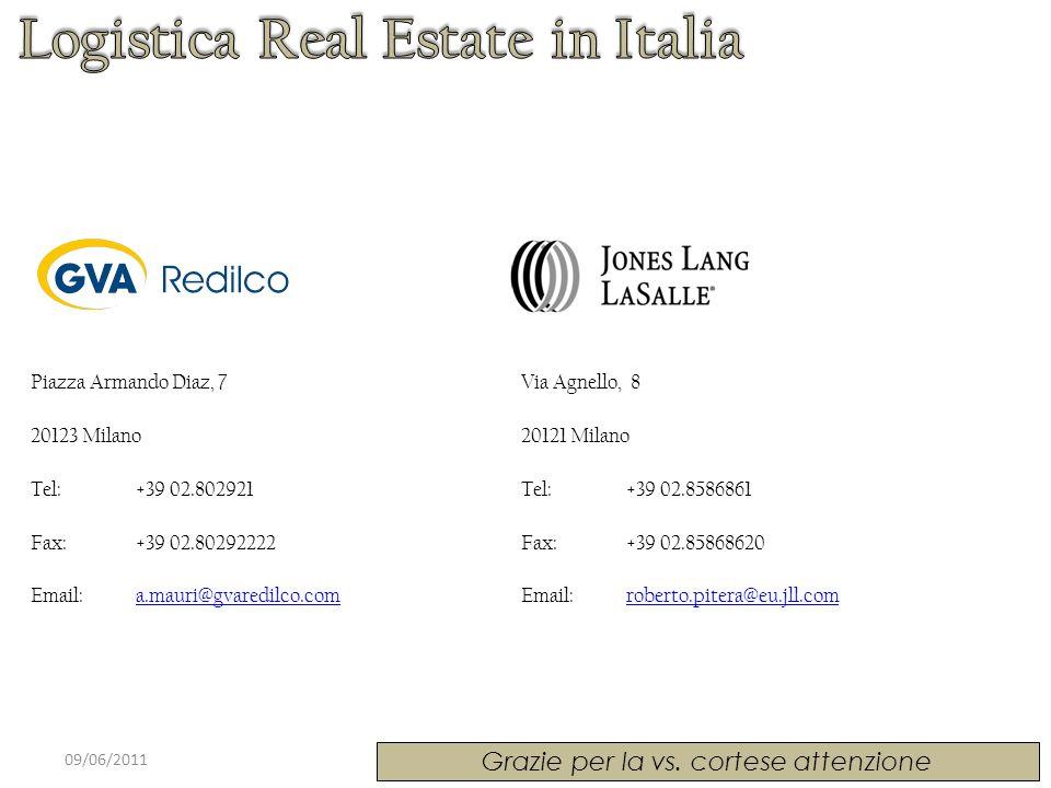 09/06/2011 Grazie per la vs. cortese attenzione Via Agnello, 8 20121 Milano Tel: +39 02.8586861 Fax: +39 02.85868620 Email: roberto.pitera@eu.jll.comr
