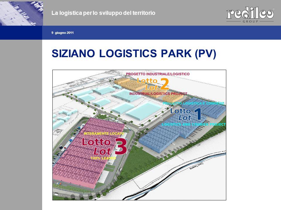 SIZIANO LOGISTICS PARK (PV) 9 giugno 2011 La logistica per lo sviluppo del territorio