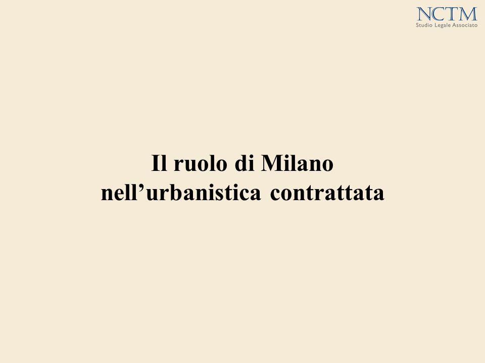 Il ruolo di Milano nellurbanistica contrattata