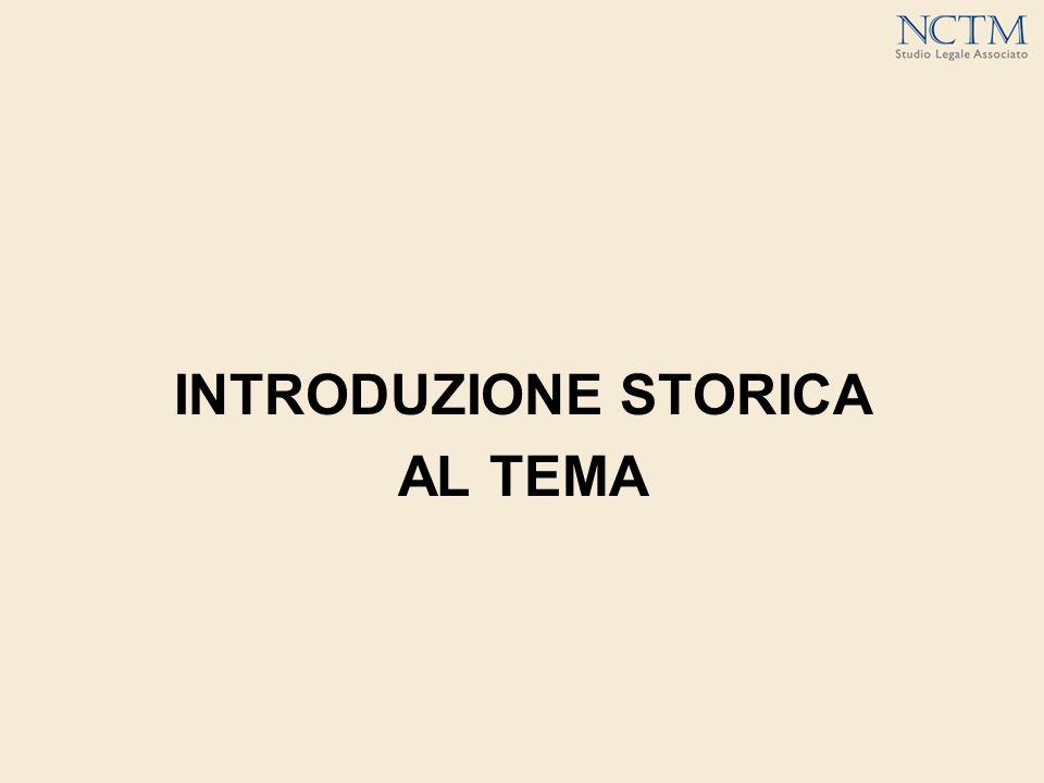 INTRODUZIONE STORICA AL TEMA