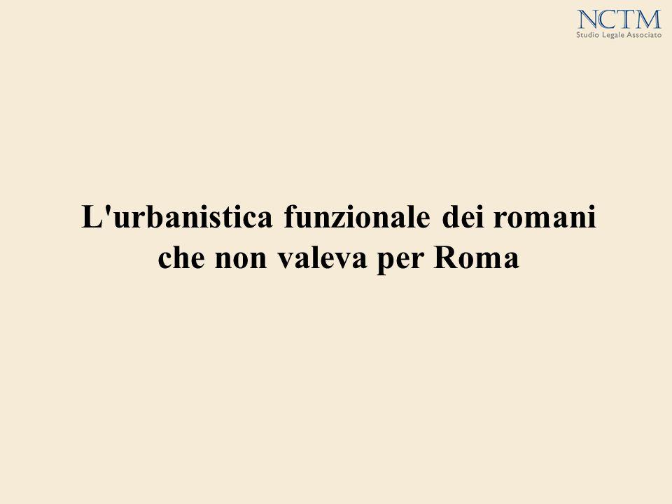 L urbanistica funzionale dei romani che non valeva per Roma