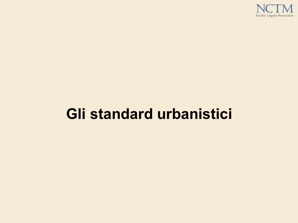 Gli standard urbanistici