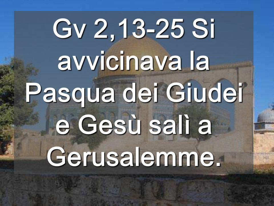 Sotto, mura dellantico Tempio Il CORPO di Gesù, morto e risorto, è il NUOVO TEMPIO, grande come il mondo