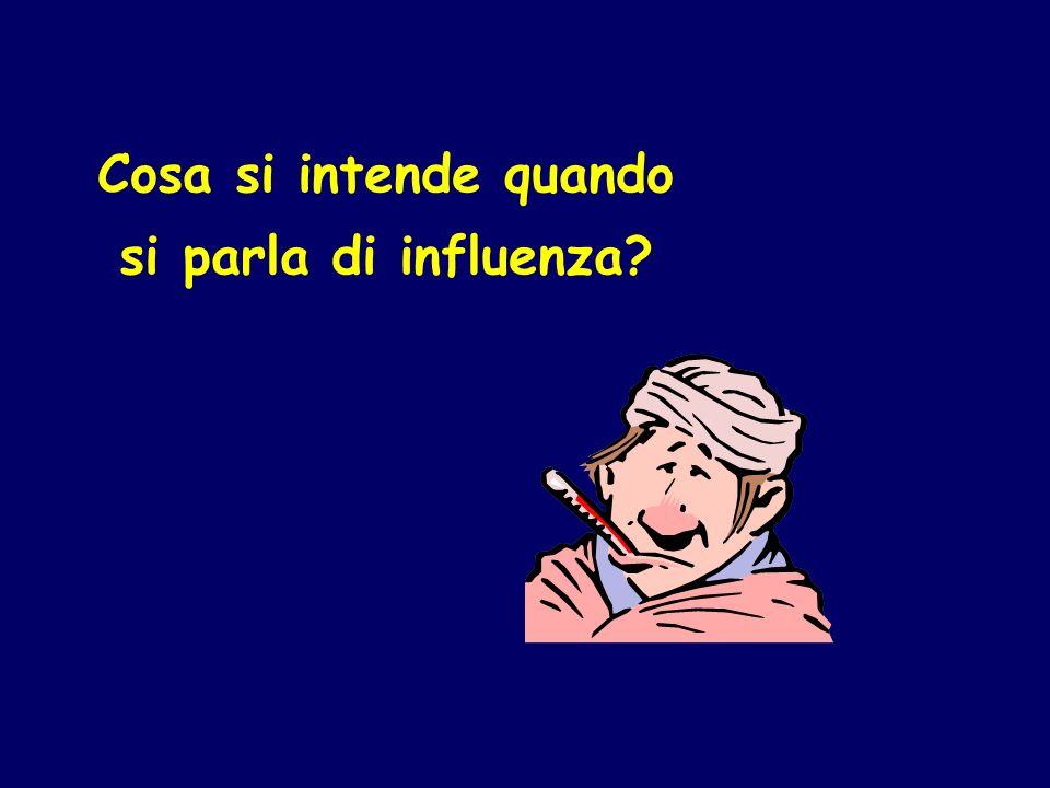 Cosa si intende quando si parla di influenza?