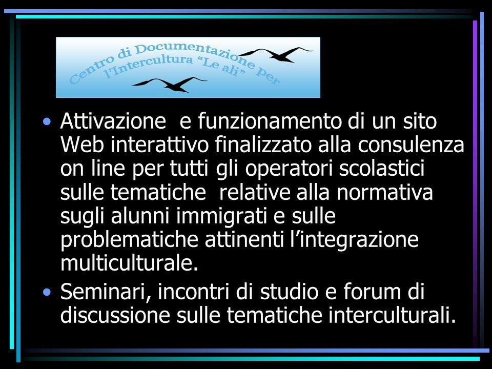 Corsi di formazione gratuiti per docenti ed educatori sulle tematiche dellintercultura, dellinsegnamento dellitaliano come seconda lingua e dellintegrazione multiculturale.