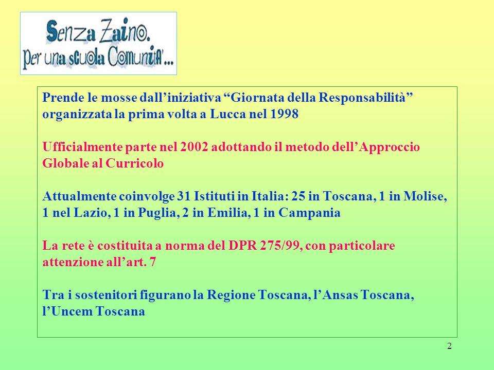 2 Prende le mosse dalliniziativa Giornata della Responsabilità organizzata la prima volta a Lucca nel 1998 Ufficialmente parte nel 2002 adottando il m
