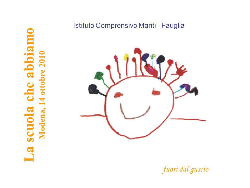 Istituto Comprensivo Mariti - Fauglia La scuola che abbiamo Modena, 14 ottobre 2010 fuori dal guscio