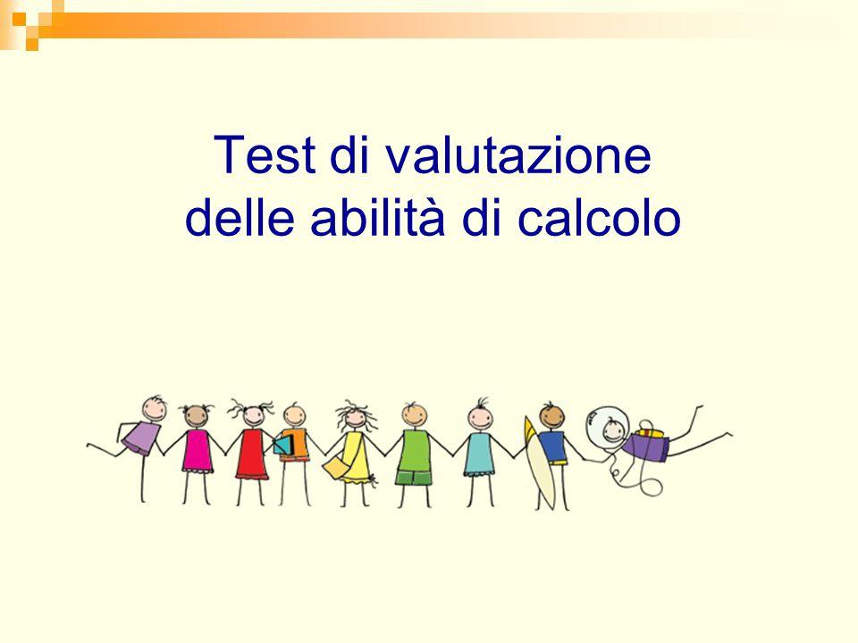 Test di valutazione delle abilità di calcolo