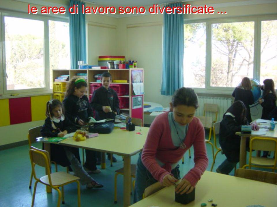 le aree di lavoro sono diversificate...