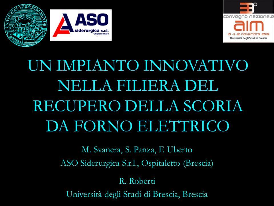 M. Svanera, S. Panza, F. Uberto ASO Siderurgica S.r.l., Ospitaletto (Brescia) R. Roberti Università degli Studi di Brescia, Brescia