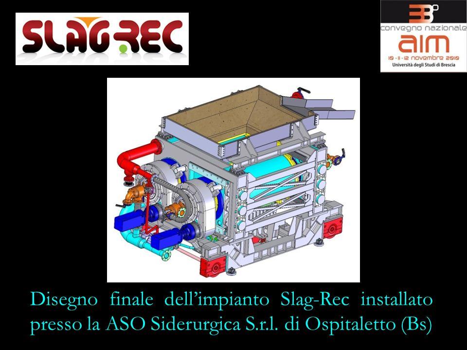 Disegno finale dellimpianto Slag-Rec installato presso la ASO Siderurgica S.r.l. di Ospitaletto (Bs)