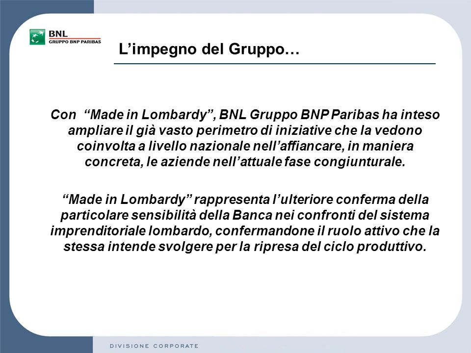 Iniziativa commerciale Made in Lombardy