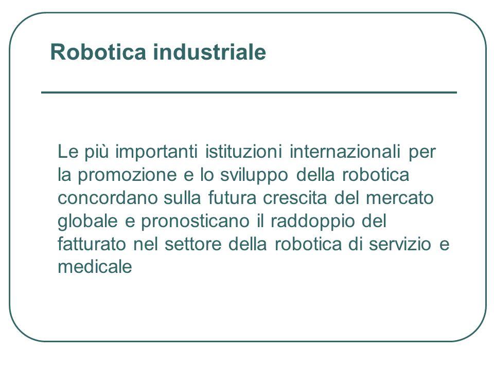 Le più importanti istituzioni internazionali per la promozione e lo sviluppo della robotica concordano sulla futura crescita del mercato globale e pro