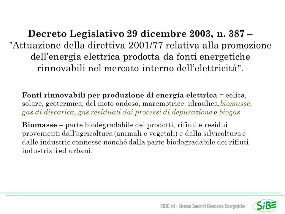 Decreto Legislativo 29 dicembre 2003, n.