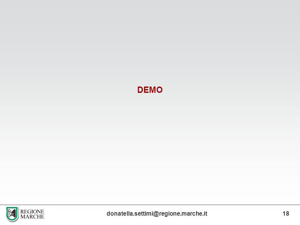 DEMO donatella.settimi@regione.marche.it18