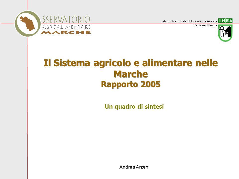Istituto Nazionale di Economia Agraria Regione Marche Andrea Arzeni Il Sistema agricolo e alimentare nelle Marche Rapporto 2005 Un quadro di sintesi