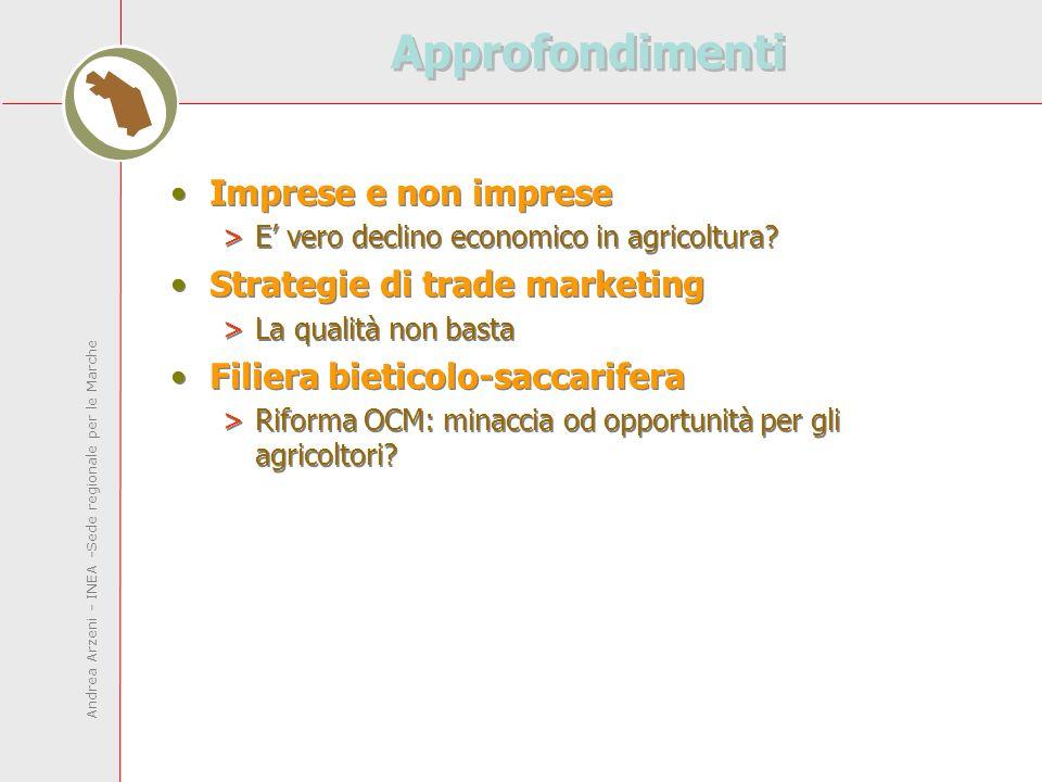 Andrea Arzeni - INEA -Sede regionale per le Marche Approfondimenti Imprese e non imprese >E vero declino economico in agricoltura.