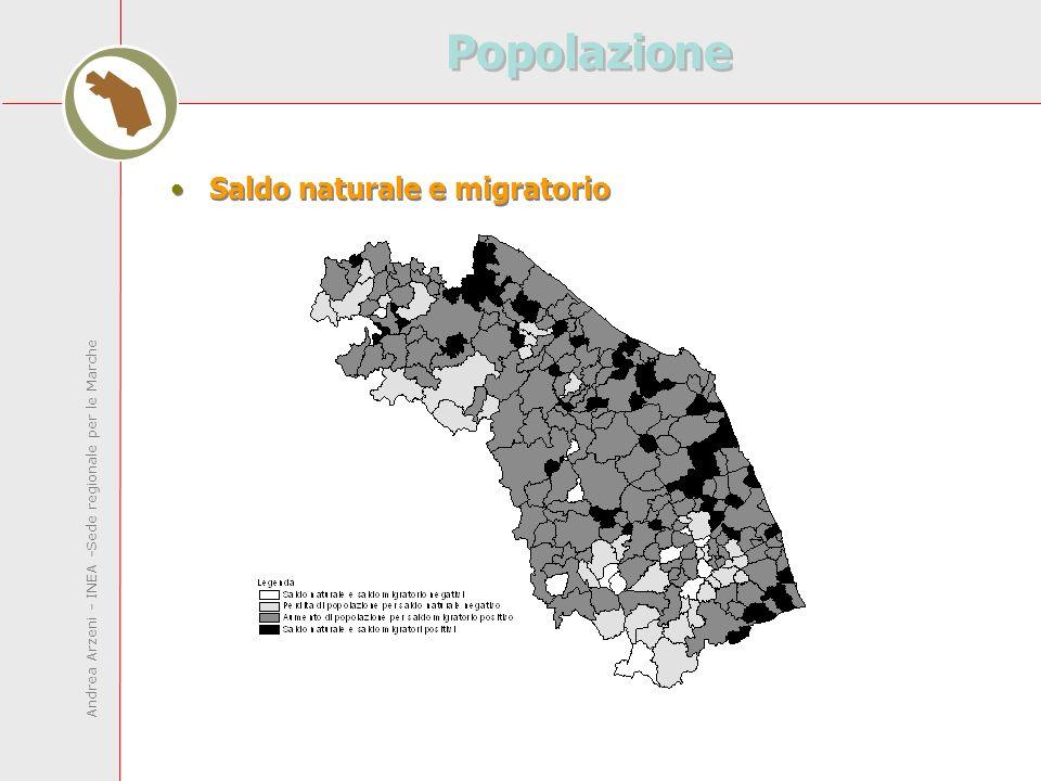 Andrea Arzeni - INEA -Sede regionale per le Marche Popolazione Saldo naturale e migratorio