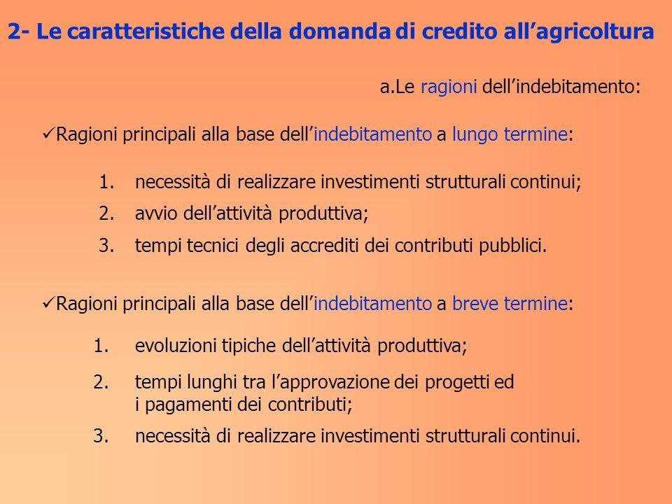 3- Le caratteristiche dellofferta di credito La mappatura del posizionamento delle banche in agricoltura