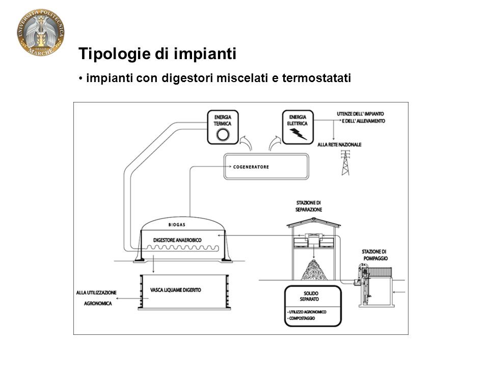 Tipologie di impianti impianti con digestori miscelati e termostatati