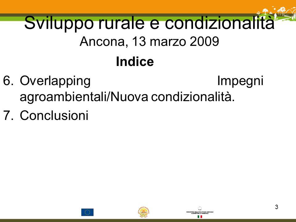 7.Conclusioni (5) Soprattutto sotto il profilo dellapplicazione del corpus normativo sinora disatteso e della funzione di base per la costruzione dellimpianto della parte ambientale dello sviluppo rurale.