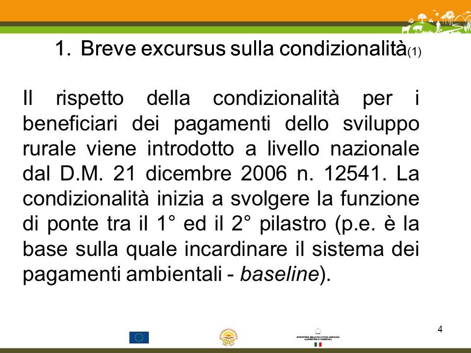 PAC I pilastro PAC II pilastro Condizionalità Consulenza Modulazione Gli strumenti ponte fra I e II pilastro della PAC 1.Breve excursus sulla condizionalità (2)