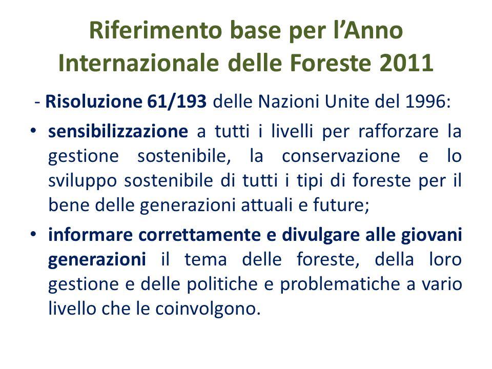 Riferimenti regionali per lAIF 2011 - Piano forestale regionale - PFR (DA n.