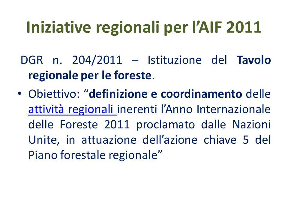 Iniziative regionali AIF 2011 per le scuole e gli studenti - analisi, sviluppo e divulgazione, con inviti ai prossimi eventi e materiale sul web per letà scolare, dei 6 criteri paneuropei della gestione forestale sostenibile delle Risoluzioni delle Conferenze Ministeriali sulla Protezione delle Foreste in Europa (MCPFE)6 criteri