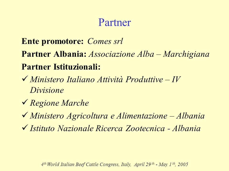 Localizzazione impianto Project Location 4th World Italian Beef Cattle Congress, Italy, April 29 th - May 1 th, 2005 Prefettuta di Fier Distretto di Lushnje Comune di Cerme