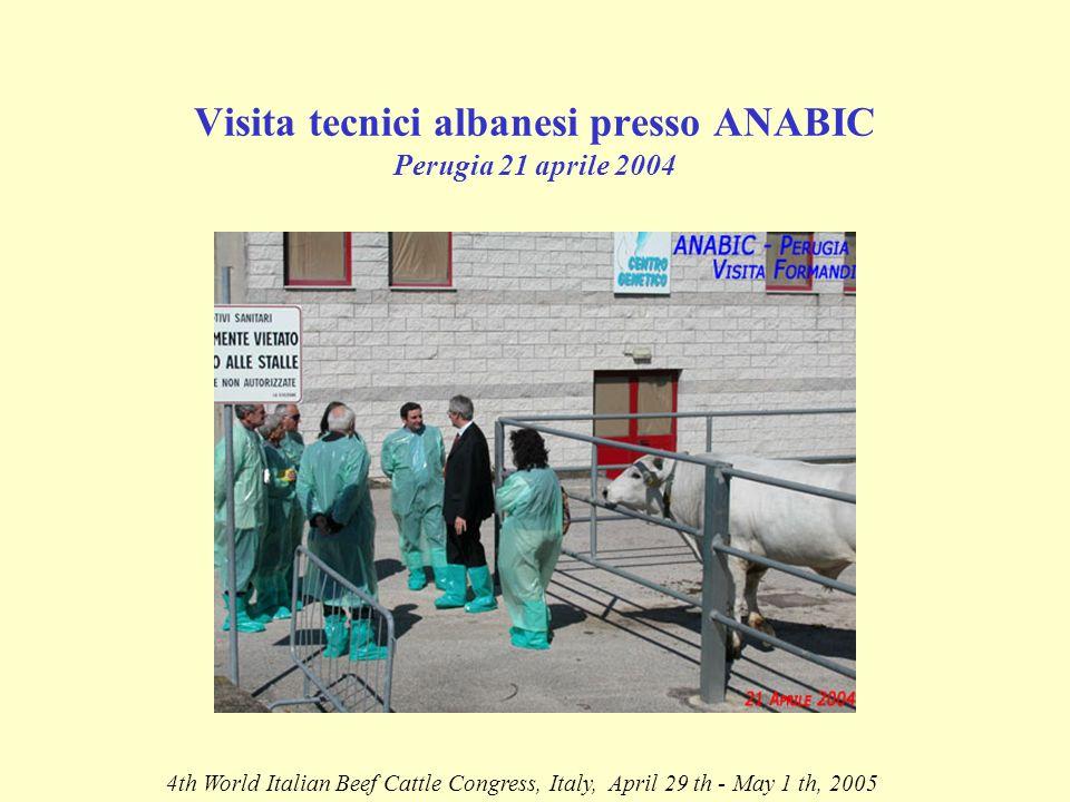 ARRIVO DELLE MANZE IN ALBANIA 4th World Italian Beef Cattle Congress, Italy, April 29 th - May 1 th, 2005