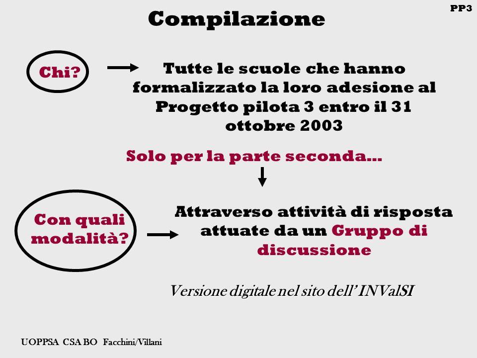 PP3 UOPPSA CSA BO Facchini/Villani Compilazione Chi.