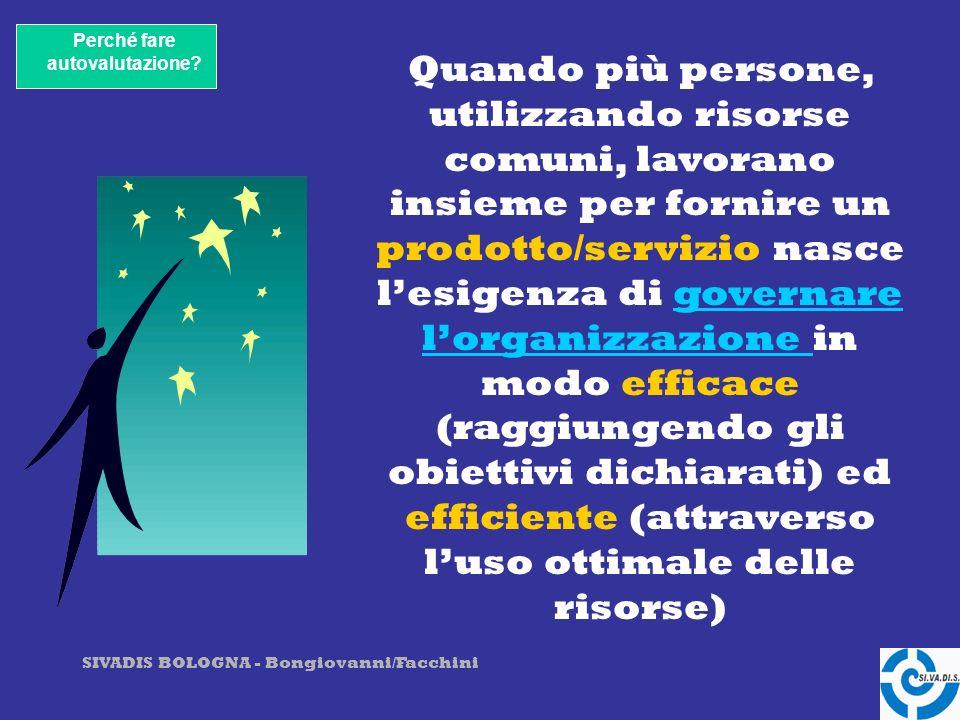 SIVADIS BOLOGNA - Bongiovanni/Facchini … consente di conoscere il grado di maturità raggiunta da una organizzazionematurità A cosa serve fare autovalutazione?