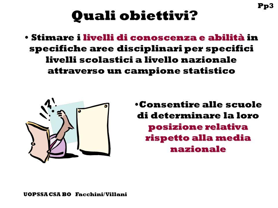 Pp3 UOPSSA CSA BO Facchini/ Villani Quali obiettivi.