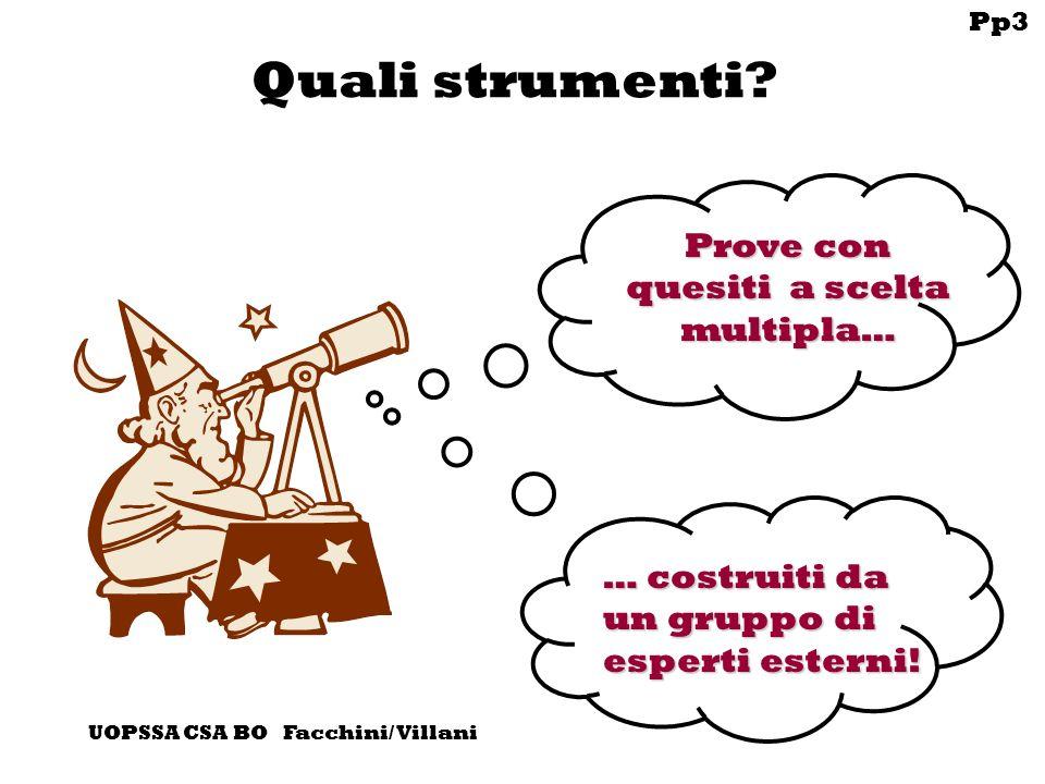 Pp3 UOPSSA CSA BO Facchini/ Villani Quali strumenti.