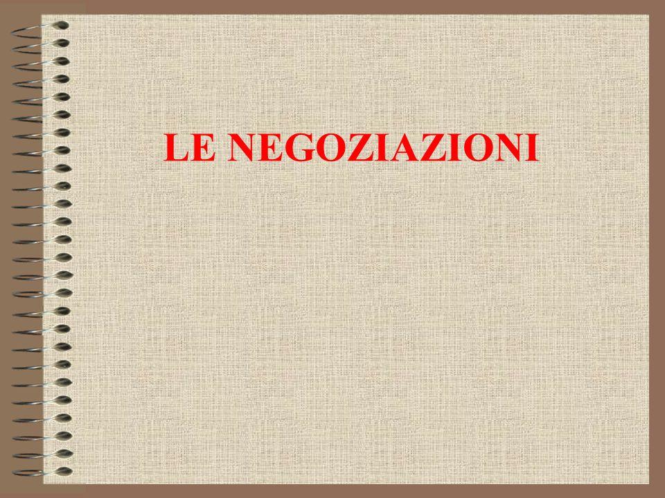 LE NEGOZIAZIONI