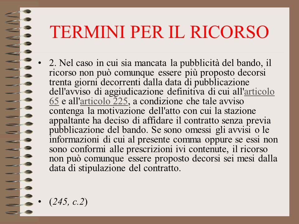 TERMINI PER IL RICORSO 2.