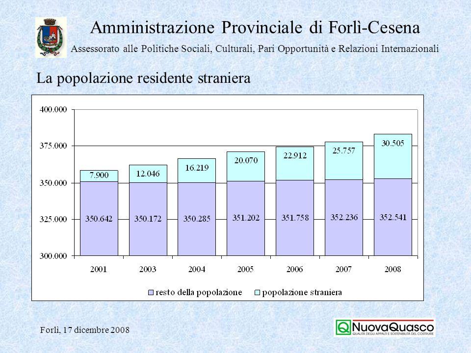 Amministrazione Provinciale di Forlì-Cesena Assessorato alle Politiche Sociali, Culturali, Pari Opportunità e Relazioni Internazionali Forlì, 17 dicembre 2008 Domanda Focus