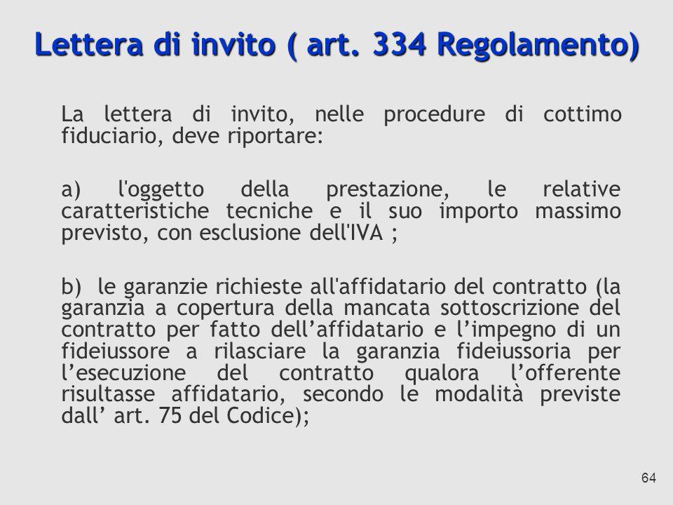 64 Lettera di invito ( art.