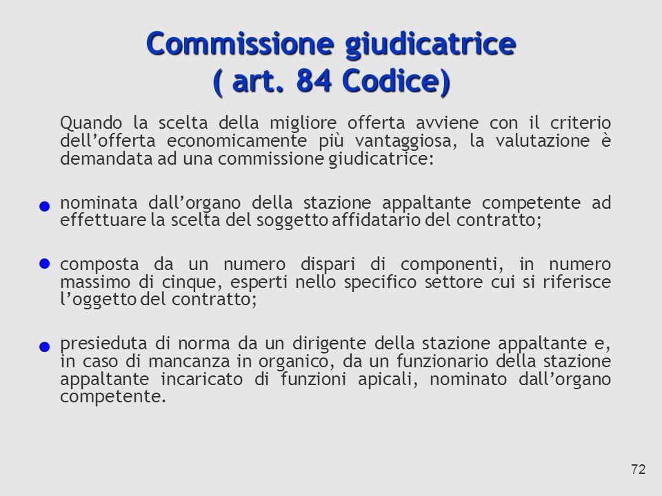 72 Commissione giudicatrice ( art.