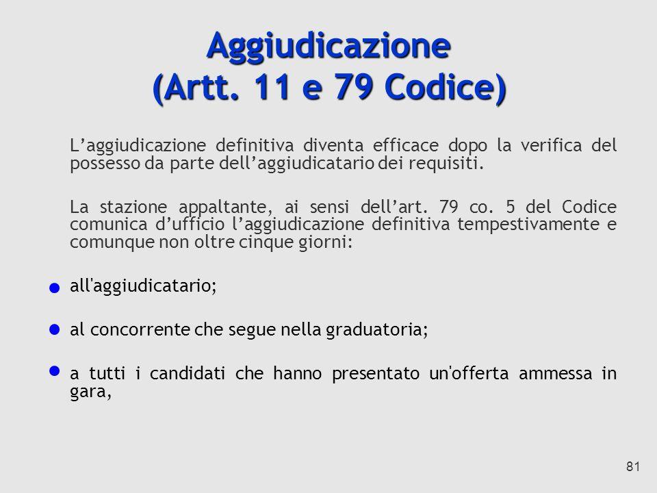 81 Aggiudicazione (Artt.