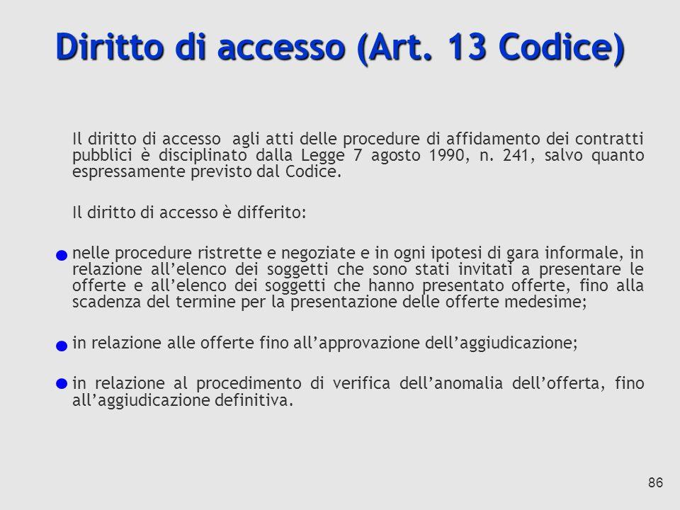 86 Diritto di accesso (Art.