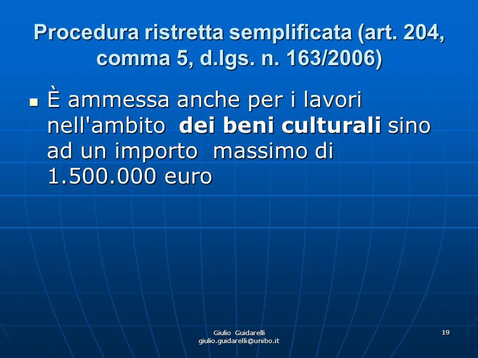 Giulio Guidarelli giulio.guidarelli@unibo.it 20 Acquisizioni in economia (art.