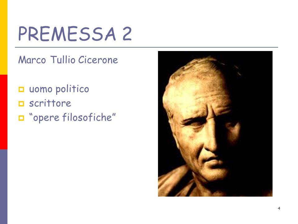 4 Marco Tullio Cicerone uomo politico scrittore opere filosofiche PREMESSA 2