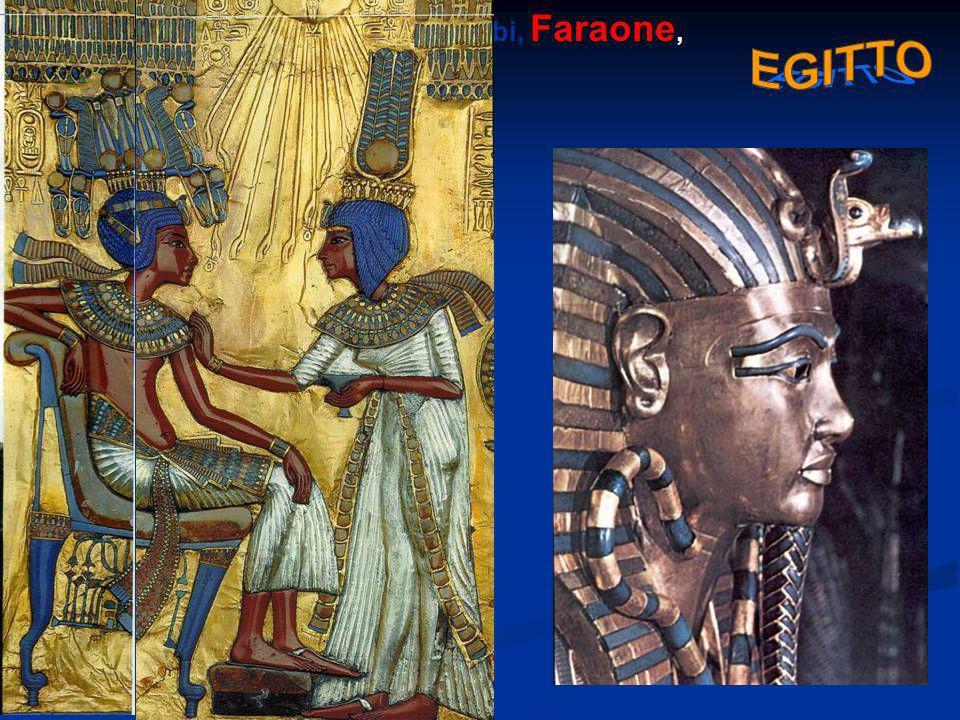 Faraone Le principali: Ra, Iside, Osiride, Anubi, Faraone, Nilo