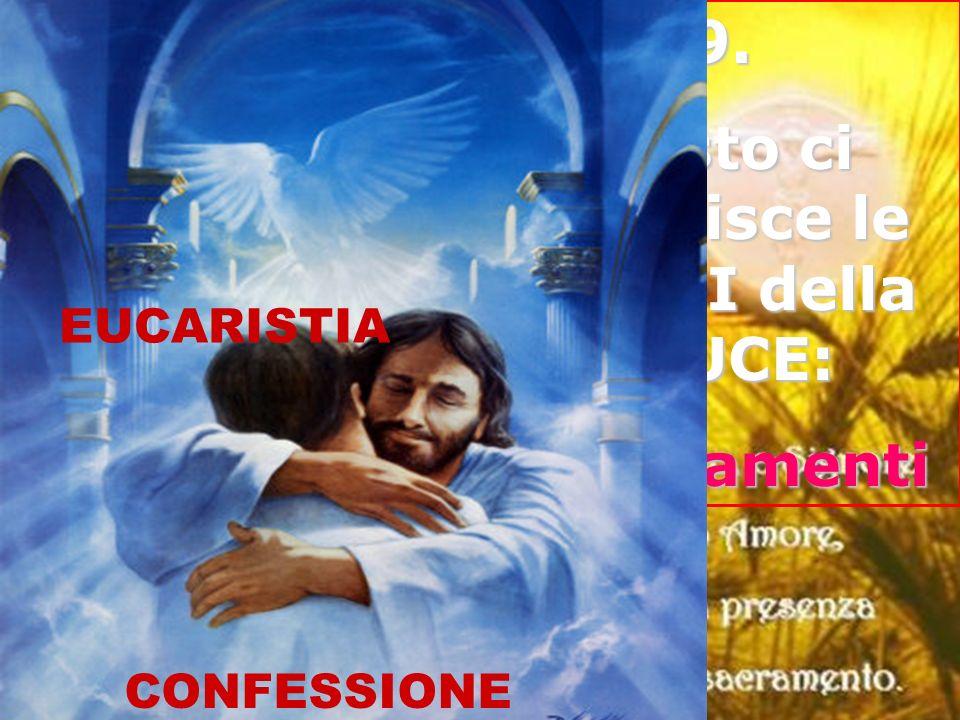 9. Cristo ci fornisce le ARMI della LUCE: I sacramenti CONFESSIONE EUCARISTIA