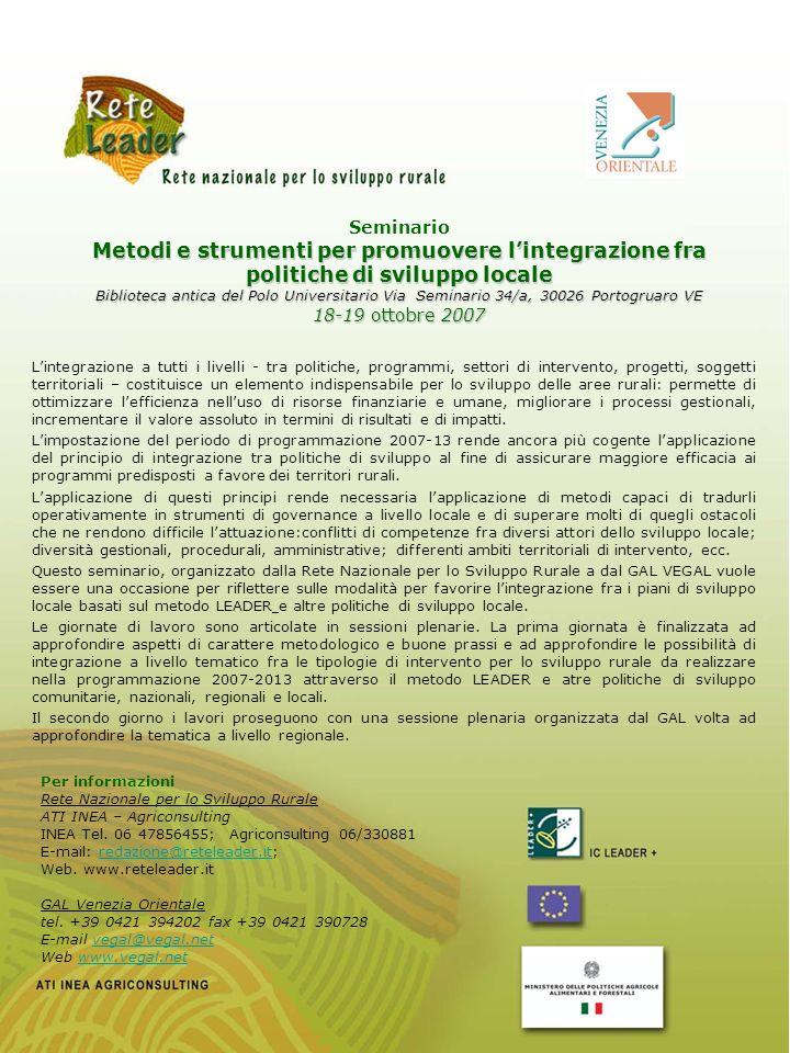 Giovedì 18 ottobre 10.00 Apertura dei lavori - Pietro Cecchinato (Direzione Sett.