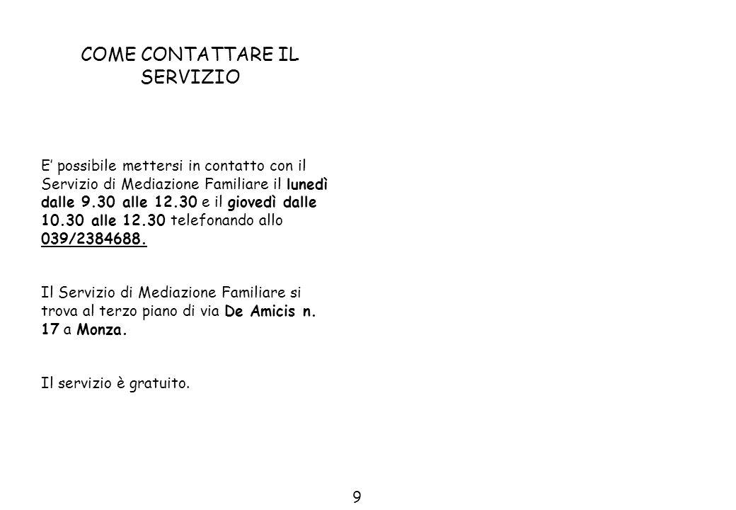 Per saperne di più potete rivolgervi al Servizio di Mediazione Familiare via De Amicis n.