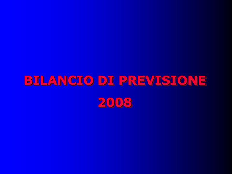 BILANCIO DI PREVISIONE 2008 2008