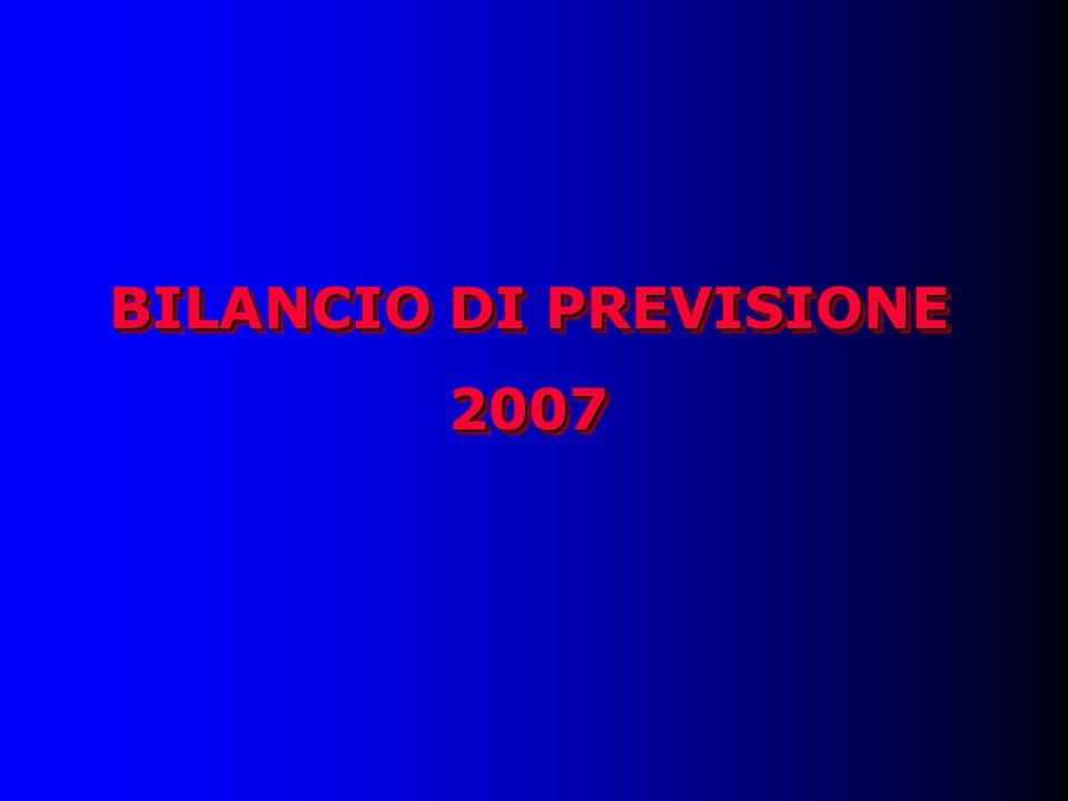 BILANCIO DI PREVISIONE 2007 2007