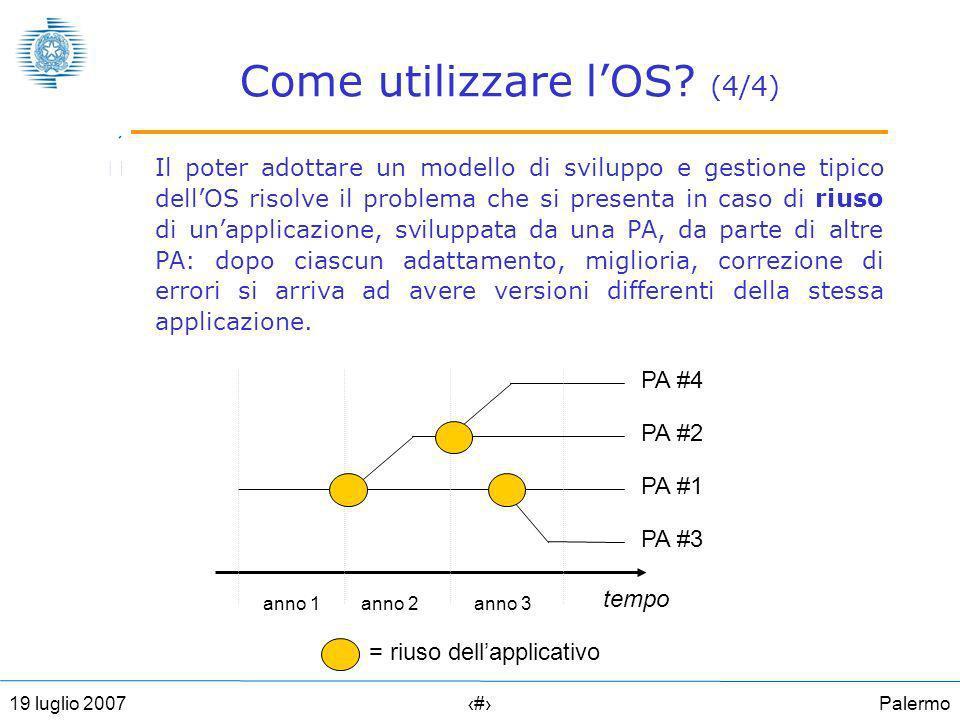 Palermo1519 luglio 2007 Come utilizzare lOS.